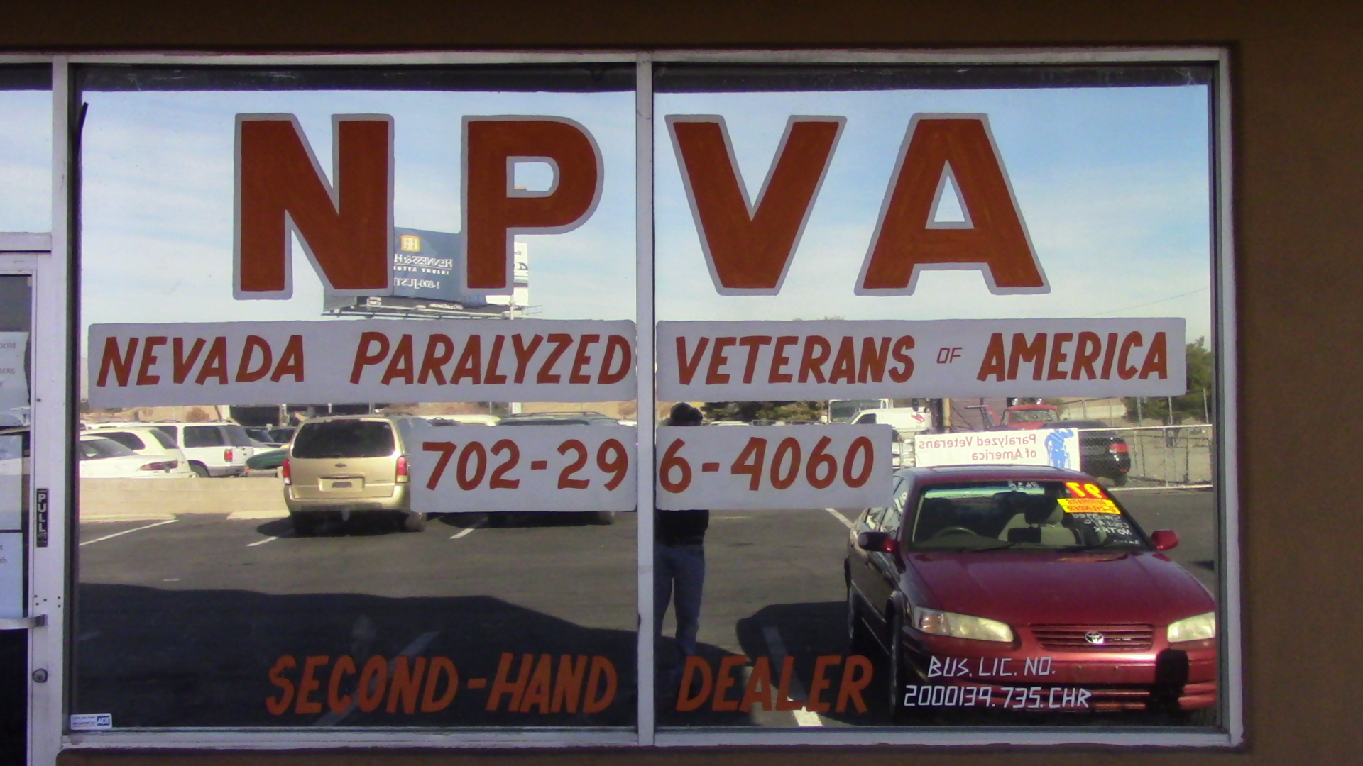 Paralyzed Veteran Charity | Nevada Paralyzed Veterans Vehicle ...