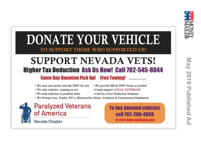 Inventory – Nevada Paralyzed Veterans Vehicle Donation/Sales